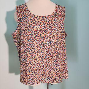 Talbots XL, summer blouse, Sleeveless.